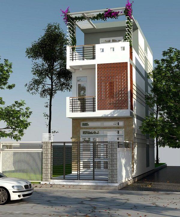 Xây nhà 3 tầng 50m2 theo phong cách hiện đại hiện được rất nhiều gia đình lựa chọn