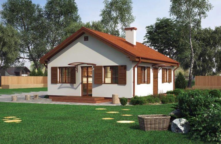 Thiết kế nhà cấp 4 100m2 theo phong cách cổ điển (mẫu 7)