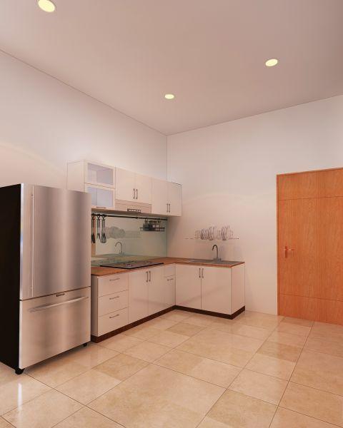 Tủ bếp góc chữ L tận dụng tối đa góc chết của ngôi nhà