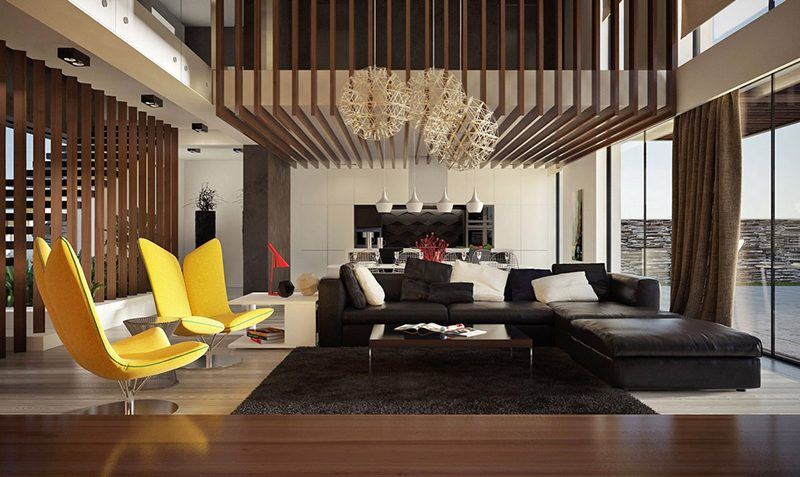 Thiết kế phòng khách thông tầng được xem là sự lựa chọn thông minh nhất cho những căn nhà có diện tích thu hẹp