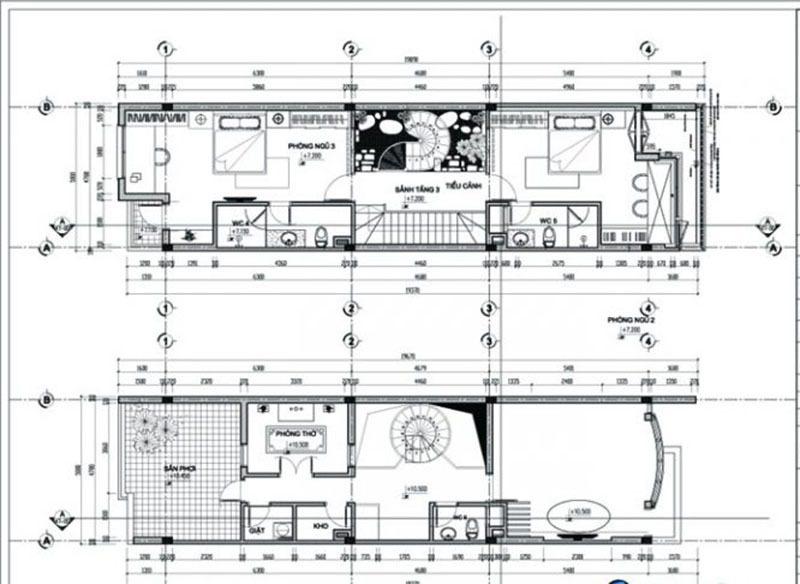 Tầng 3 và tum của ngôi nhà được bố trí hiện đại, đầy đủ công năng
