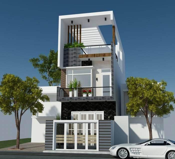 Thiết kế nhà phố 3 tầng theo phong cách hiện đại là xu hướng được yêu thích trong năm 2018