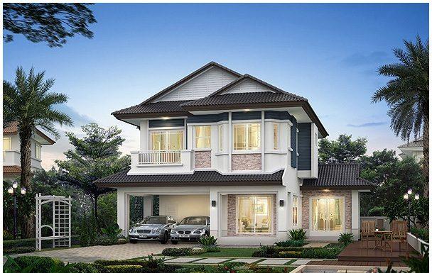 Thiết kế nhà 2 tầng 100m2 là xu hướng thiết kế được yêu thích nhất hiện nay