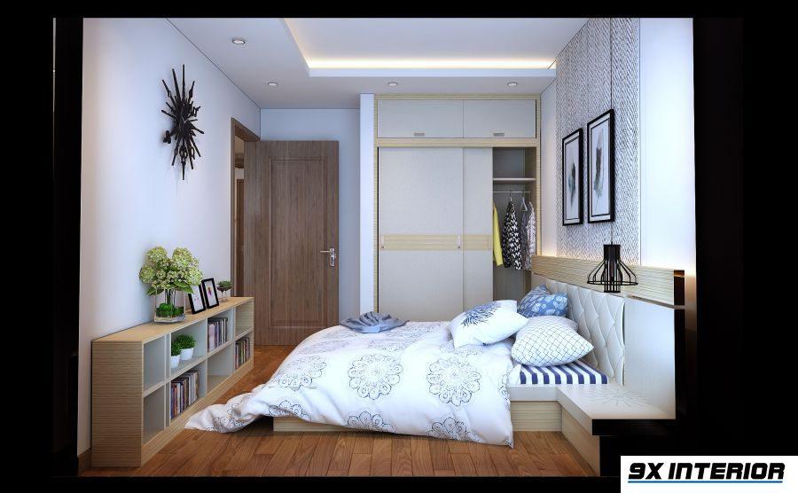 Phòng ngủ con gái trung thành với tone màu trung tính và cách bố trí gọn gàng, tối ưu công năng