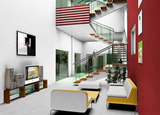 Với kiểu nhà ống tầng lệch không gian căn hộ trở nên thông thoáng và rộng rãi hơn