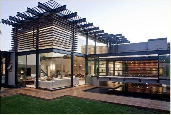 Mẫu nhà khung thép được thiết kế theo phong cách hiện đại, ấn tượng