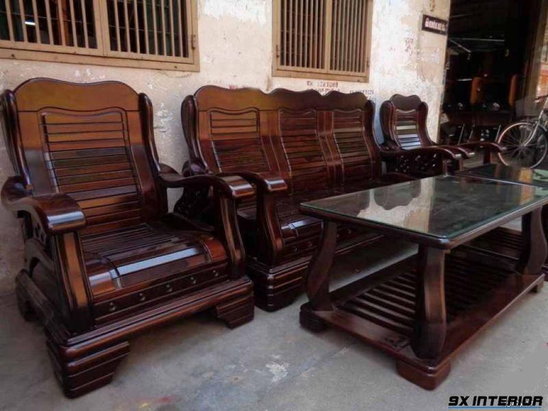 Bàn ghế nội thất làm bằng gỗ muồng đen