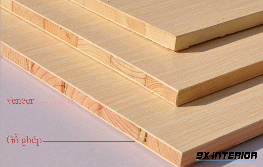 Sau khi ghép xong, gỗ được đưa đi gia công bề mặt để tăng tính thẩm mỹ và ứng dụng