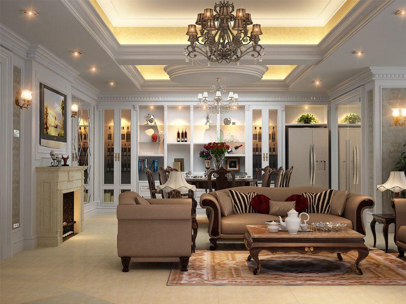 Không gian căn hộ trở sang trọng hơn với kiến trúc tân cổ điển