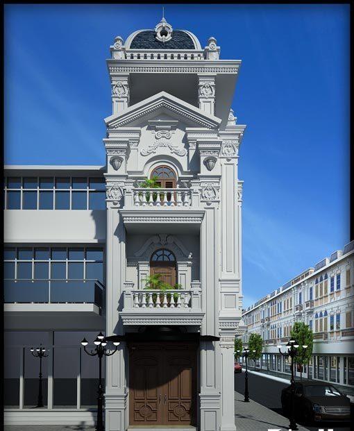 Kiến trúc châu Âu đậm nét qua kết cấu mái vòm và những chi tiết tạo hình phức tạp ở phần tường bên ngoài
