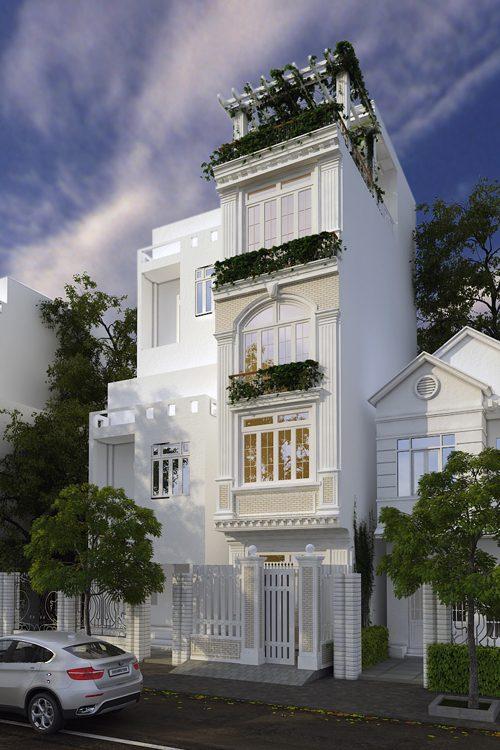 Xu hướng thiết kế nhà ở theo phong cách kiến trúc tân cổ điển khá được ưa chuộng tại Việt Nam