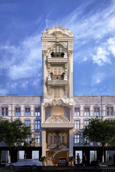 Vừa hiện đại, vừa cổ kính sang trọng là điểm nổi bật của lối kiến trúc tân cổ điển