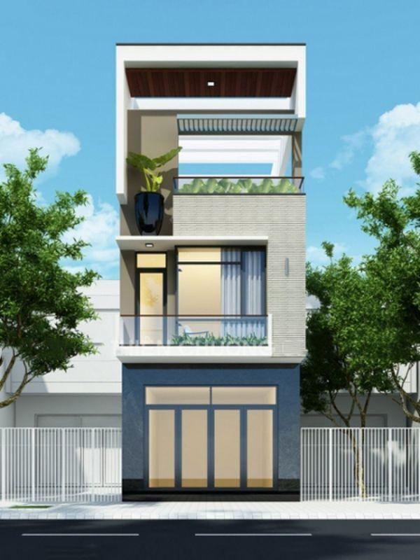 KHông cần phải xây cao tầng nhưng thiết kế nhà phố này cũng đủ khiến người nhìn cảm thấy nhẹ nhàng, thư thái ngay từ giây phút đầu nhìn vào