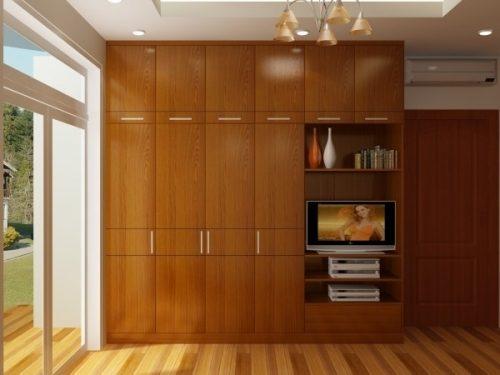 Tủ quần áo gỗ Veneer (Mẫu 1)