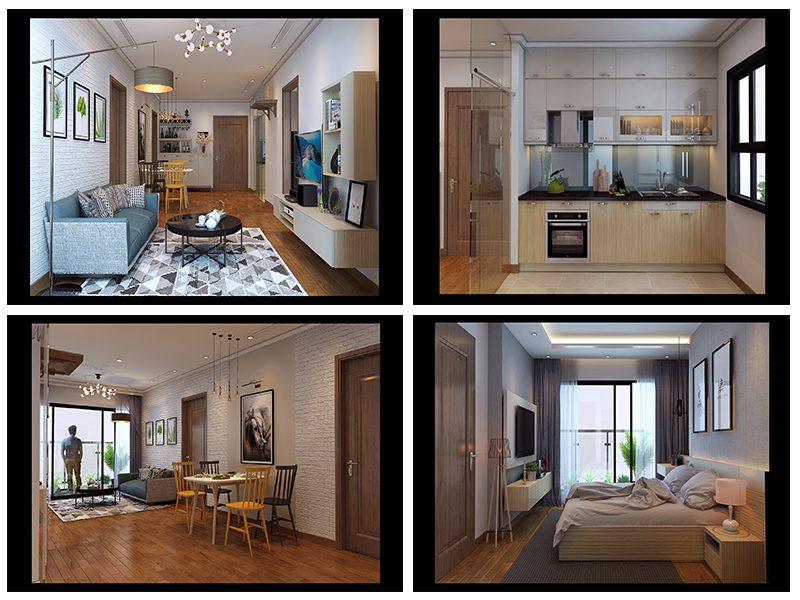 Thiết kế chung cư Park Hill căn 90m2 theo phong cách scandinavian