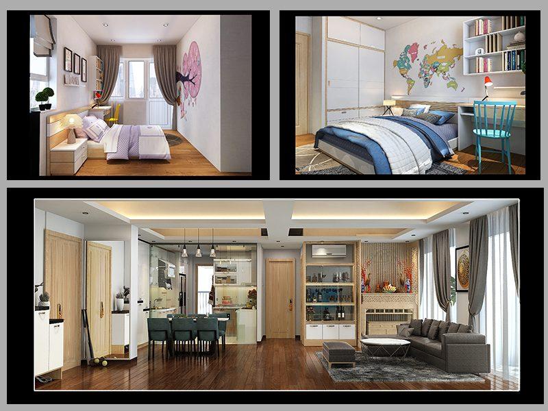 Không gian nội thất trong một căn hộ Imperia Garden căn 93m2