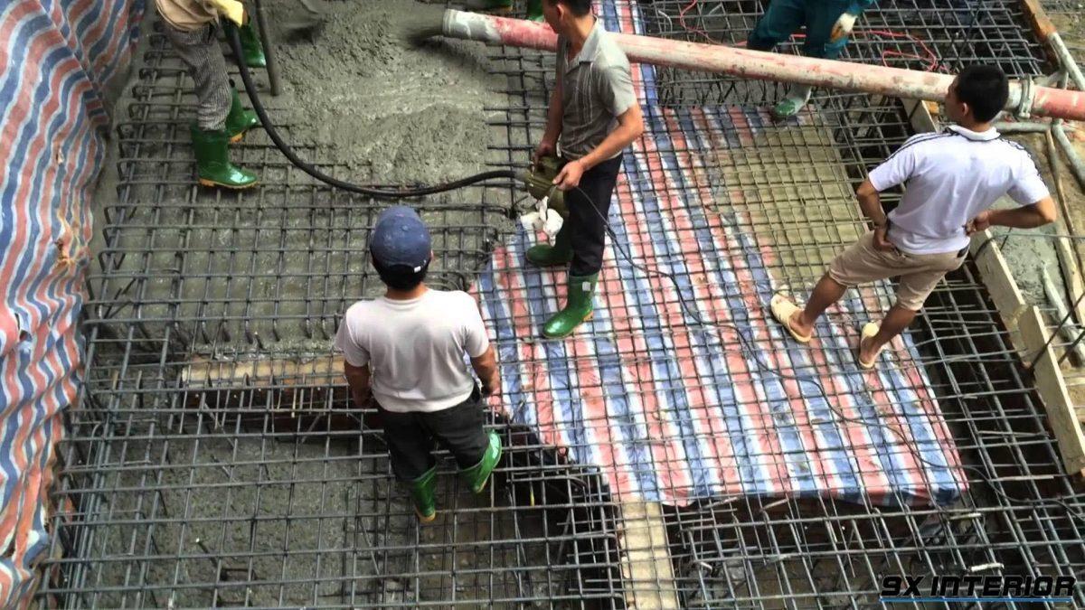 Quá trình đổ bê tông là quá trình đòi hỏi sự cẩn thận để đảm bảo chất lượng móng của công trình