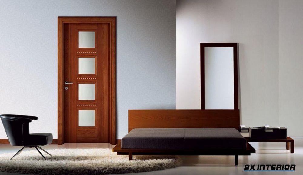 Cửa gỗ công nghiệp HDF bề mặt laminate