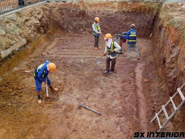 Khâu chuẩn bị, bằng mặt đất để chuẩn bị đào móng khá quan trọng để đảm bảo chất lượng công trình