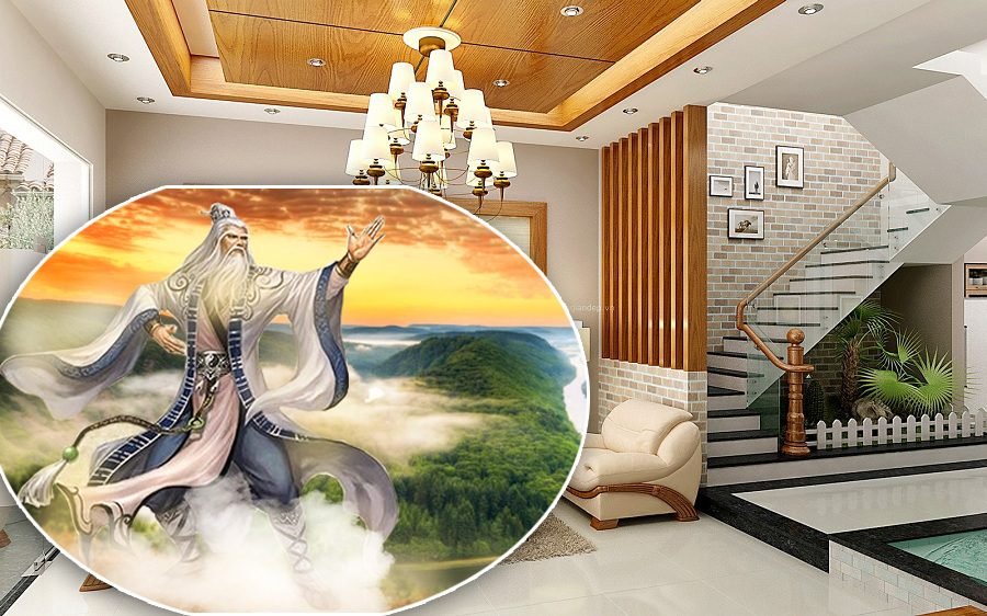 Trong tâm linh phong thủy, cầu thang đẹp chính là điểm khởi đầu dẫn luồng khí trong lành đến không gian các phòng sinh hoạt của ngôi nhà.