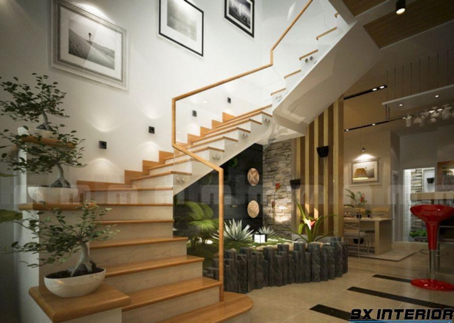 Cầu thang gỗ là lựa chọn lý tưởng bởi tính bền đẹp và được sử dụng trong nhiều không gian khác nhau.