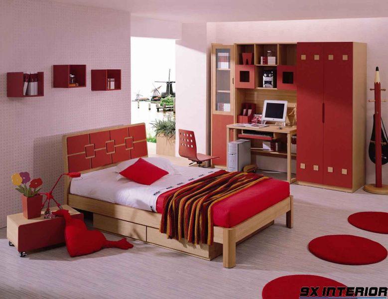 Tránh sử dụng nội thất quá nhiều gam màu nóng sẽ gây cảm giác bức bí, ngột ngạt cho trẻ