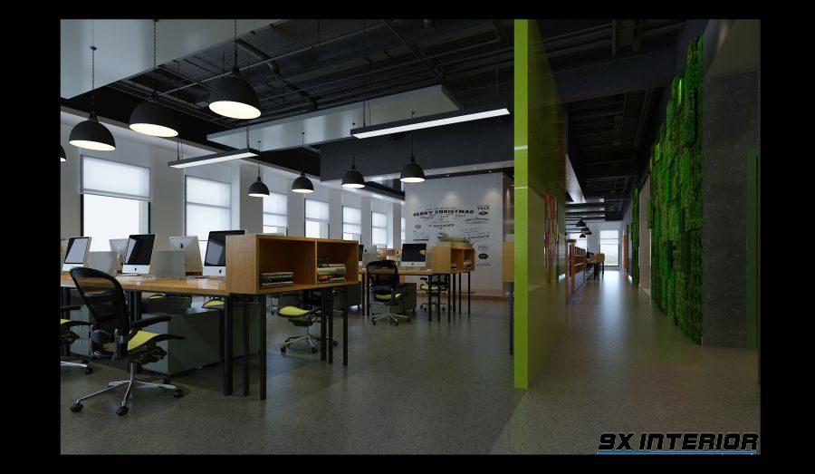 Thiết kế nội thất văn phòng diện tích lớn