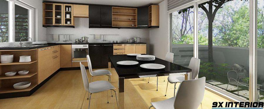 Tạo ra không gian mở cho bếp