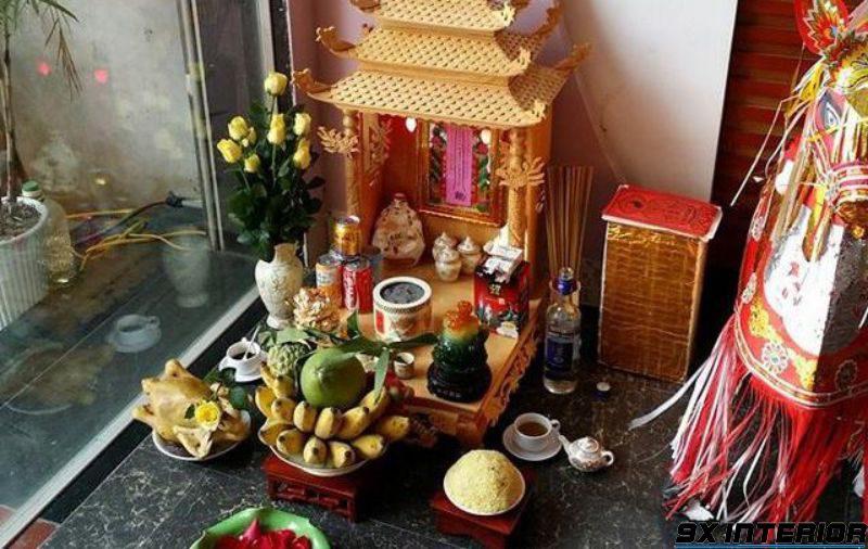 Mẫu bàn thờ thần tài 03