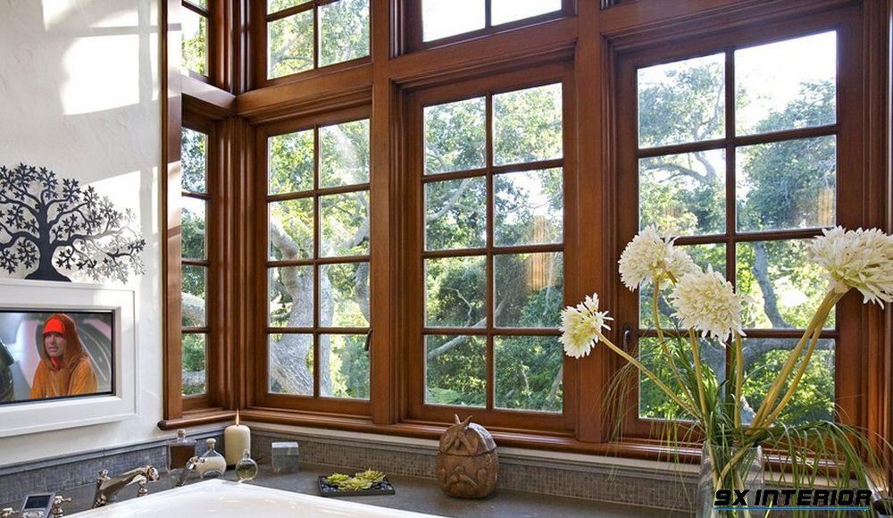 Đây là mẫu cửa sổ phòng bếp được ưa chuộng ở nhiều thiết kế biệt thự hiện nay