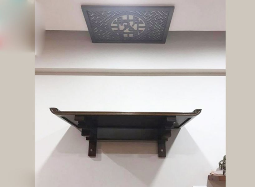 Mẫu bàn thờ treo tường đẹp 03