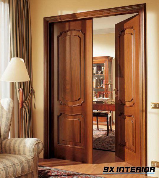 cửa gỗ tự nhiên phù hợp với mọi loại phong cách thiết kế nhà ở, từ hiện đại cho tới cổ điển, tân cổ điển