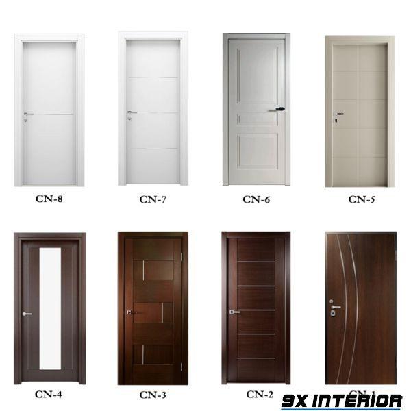 Một số mẫu cửa gỗ thông phòng (cửa gỗ 1 cánh đẹp) có kết hợp soi nẹp tinh tế, hiện đại