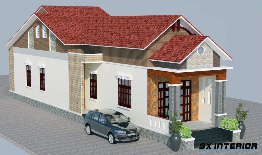 Mẫu thiết kế nhà ở với kích thước mặt tiền 4m x 20m chiều sâu