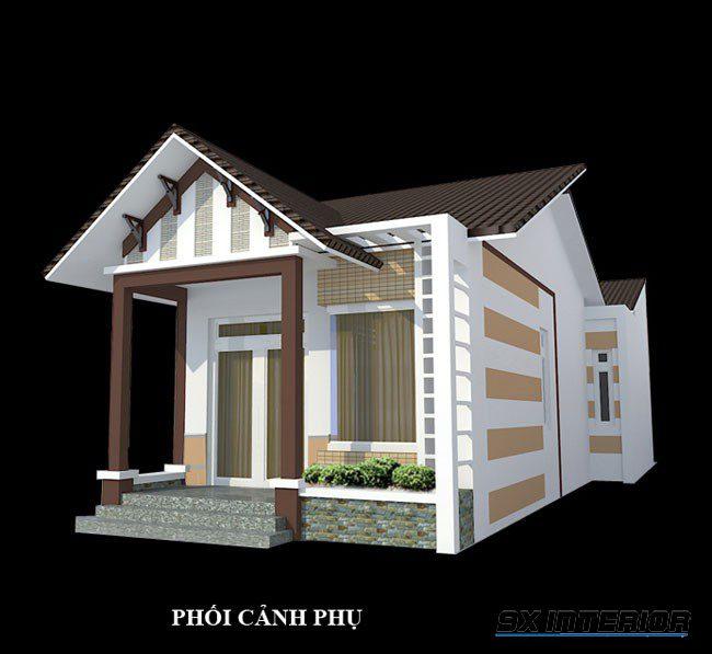 Mẫu nhà cấp 4 mái thái với phần mặt tiền 4m sẽ là lựa chọn không thể bỏ qua cho những gia chủ muốn xây nhà ở giá rẻ trong thời điểm này