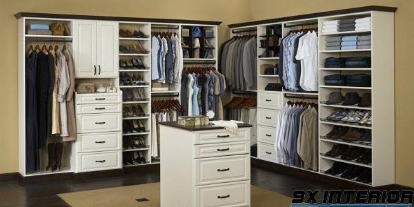 Mẫu tủ đựng giày gỗ công nghiệp kết hợp tủ quần áo 2