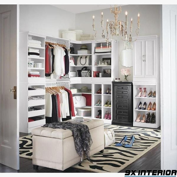Mẫu tủ đựng giày gỗ công nghiệp kết hợp tủ quần áo