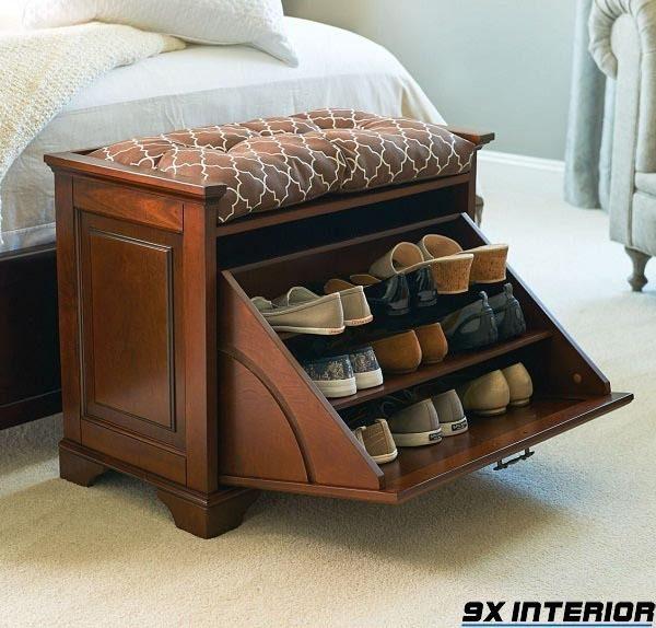 Mẫu tủ giày làm từ gỗ lim Nam Phi