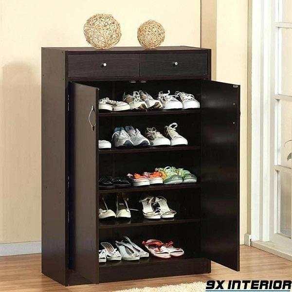Mẫu tủ giày làm từ gỗ muồng đen