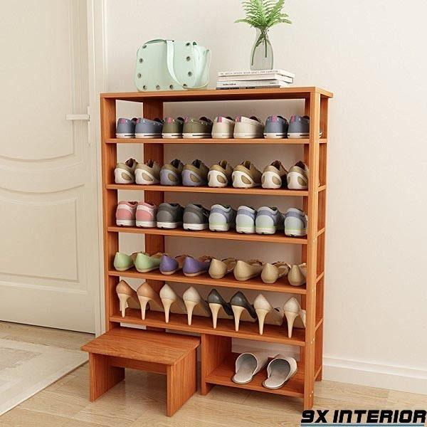 Mẫu tủ giày thiết kế đơn giản mà đẹp làm từ gỗ xoan đào