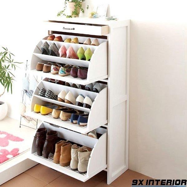Mẫu tủ giày thông minh kiểu úc