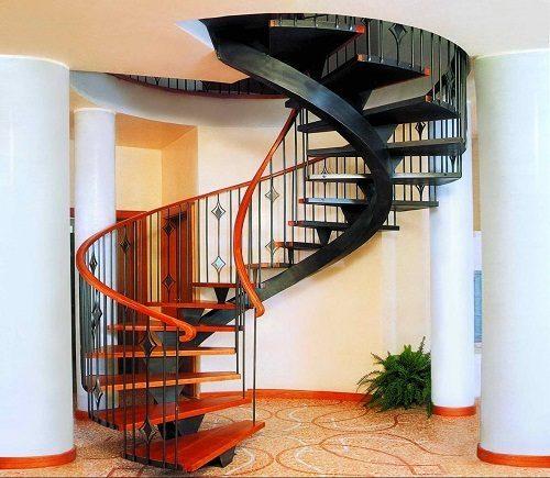 Cầu thang mang hơi hướng hiện đại.