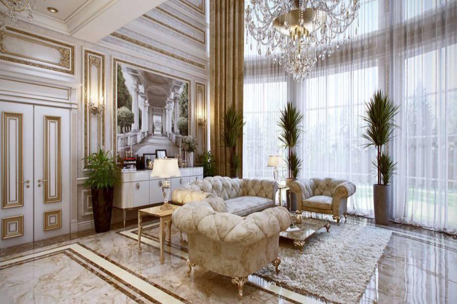 Mẫu phong cách thiết kế nội thất cổ điển 03