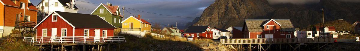 Một góc thị trấn theo thuộc vùng Scandinavian