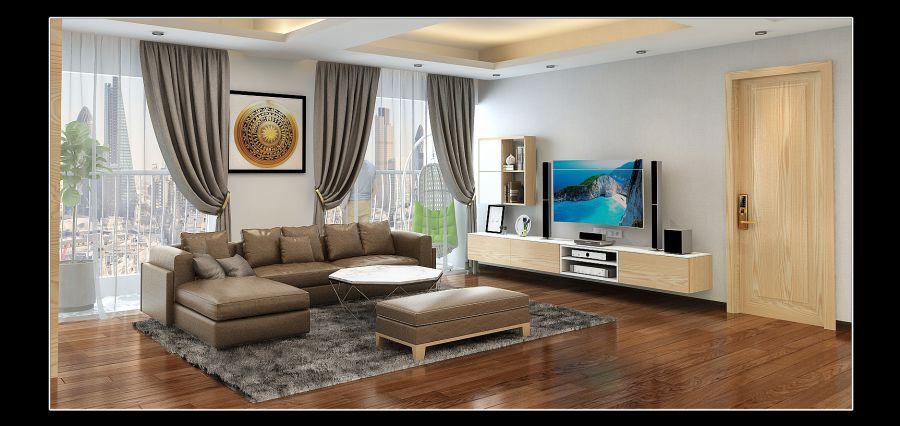 Mẫu phòng khách hiện đại 13