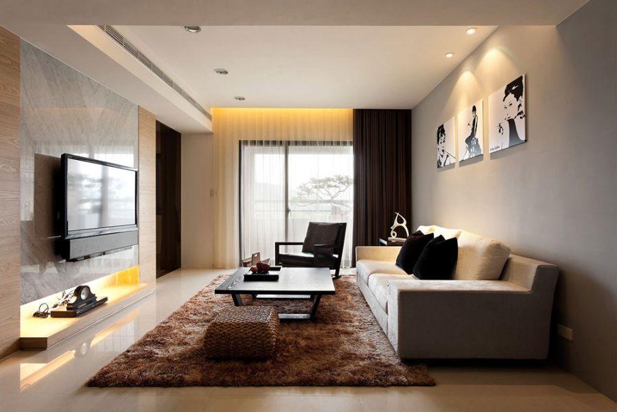 Tông màu nâu trầm từ thảm trải sàn sẽ khiến căn phòng trở nên u tối. Để tạo sự cân bằng, bạn hãy dùng đến các đồ vật có màu trắng.