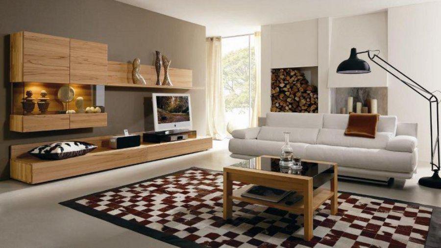Phòng khách ấn tượng hơn với thảm trải sàn họa tiết caro