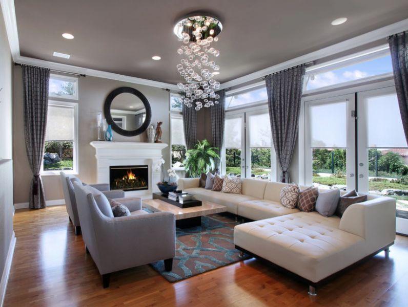 Nếu bạn có một phòng khách rộng, những bộ sofa góc kích thước lớn với tone màu trang nhã thế này sẽ góp phần khẳng định gu thẩm mỹ thời thượng của bạn