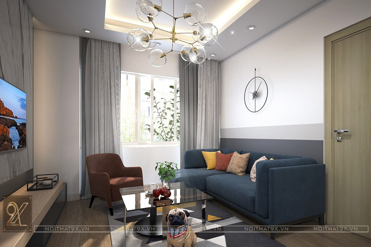 Nội thất phòng khách view 2 - Chung cư An Bình City/ Anh Tuấn