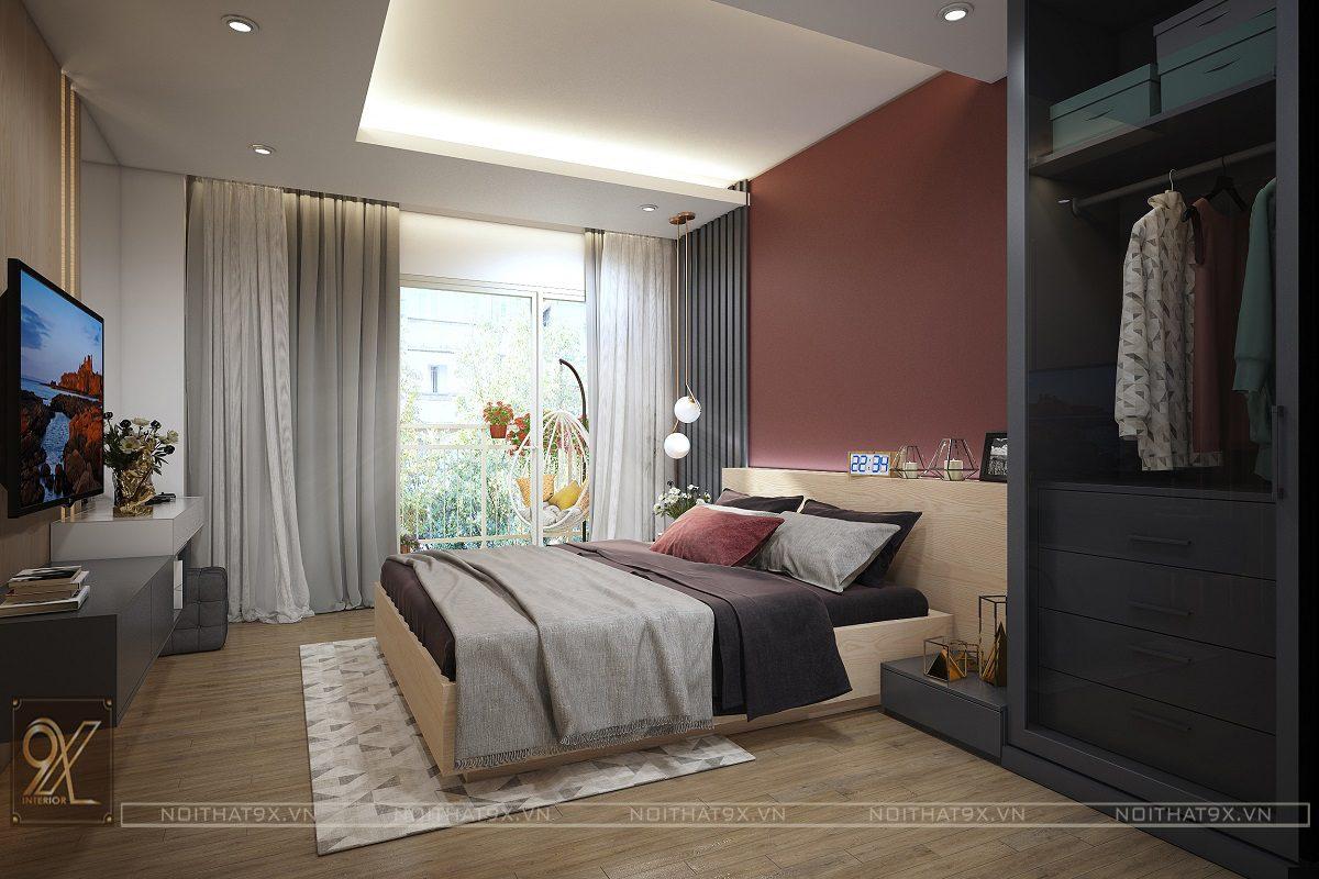 Nội thất phòng ngủ master view 1 - Chung cư An Bình City/Anh Hòa